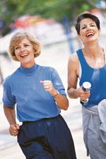 Zwei Frauen beim Jogging